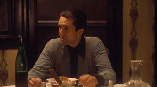 """Robert de Niro em """"O Poderoso Chefão"""""""