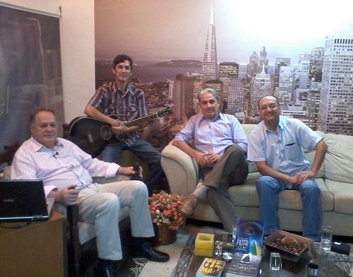 (Da esq. para a dir.) Renato Cardoso, Gilson Dias, eu e Gilmar Dias