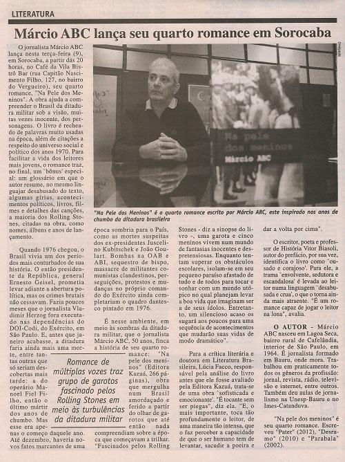 Matéria no Diário de Sorocaba