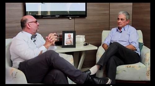 Deda e Márcio ABC durante a entrevista veiculada pela TVR Canal 23, de Sorocaba