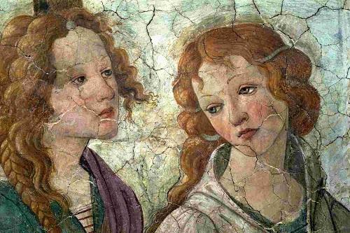 """Detalhe de """"Vênus e as Três Graças"""", de Botticelli"""